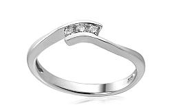 Zlatý zásnubný prsteň s diamantmi Dahlia IZBR166A