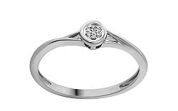 Zlatý zásnubný prsteň s diamantmi Dalila white IZBR053A