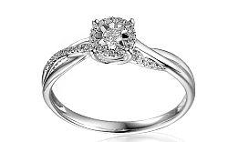 Zlatý zásnubný prsteň s diamantmi Éclat IZBR161A