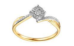 Zlatý zásnubný prsteň s diamantmi Edena IZBR038