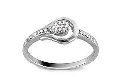 Zlatý zásnubný prsteň s diamantmi Elanna 9DM0043