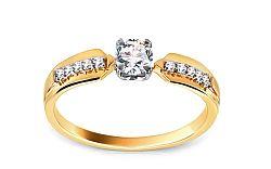 Zlatý zásnubný prsteň s diamantmi Hannah KU413