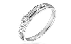 Zlatý zásnubný prsteň s diamantmi Harper white IZBR026A