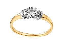 Zlatý zásnubný prsteň s diamantmi Imane IZBR250
