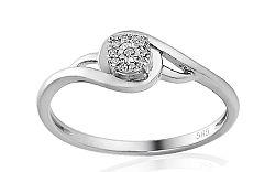 Zlatý zásnubný prsteň s diamantmi Iris IZBR165A