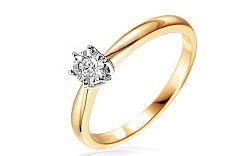 Zlatý zásnubný prsteň s diamantmi Jalene IZBR032