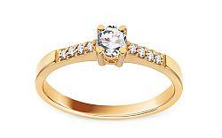 Zlatý zásnubný prsteň s diamantmi Jimena BSBR054