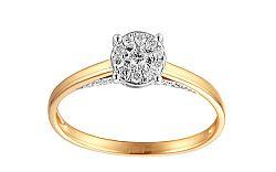Zlatý zásnubný prsteň s diamantmi Liora IZBR264
