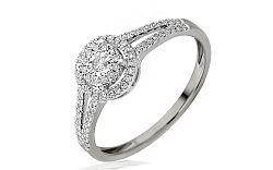 Zlatý zásnubný prsteň s diamantmi Maia white IZBR243A