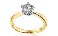 Zlatý zásnubný prsteň s diamantmi Marcia IZBR131