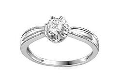 Zlatý zásnubný prsteň s diamantmi Mireya white IZBR048A