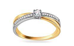 Zlatý zásnubný prsteň s diamantmi Nadia KU446