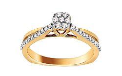 Zlatý zásnubný prsteň s diamantmi Natalii KU550