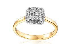 Zlatý zásnubný prsteň s diamantmi Nava IZBR024