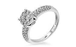 Zlatý zásnubný prsteň s diamantmi Océane IZBR223A