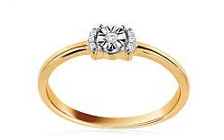Zlatý zásnubný prsteň s diamantmi Osanna CSBRI005