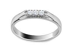 Zlatý zásnubný prsteň s diamantmi Paola ARBR35A
