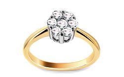 Zlatý zásnubný prsteň s diamantmi Priscille ARBR39