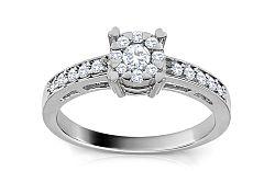 Zlatý zásnubný prsteň s diamantmi Safia ARBR32A