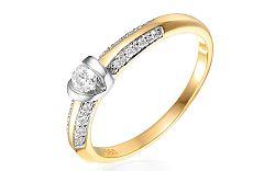 Zlatý zásnubný prsteň s diamantmi Shiloh IZBR257