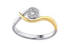 Zlatý zásnubný prsteň s diamantmi Tabitha IZBR106P