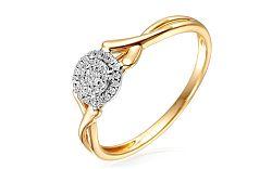 Zlatý zásnubný prsteň s diamantmi Talasi IZBR255