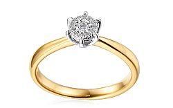 Zlatý zásnubný prsteň s diamantmi Yalena IZBR099P