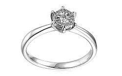 Zlatý zásnubný prsteň s diamantmi Yalena white IZBR099AP