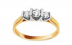 Zlatý zásnubný prsteň s diamantmi Zoie BSBR046