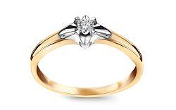Zlatý zásnubný prsteň s diamantom 0,080 ct Always KU0057