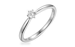 Zlatý zásnubný prsteň s diamantom 0.110 ct Aurin white IZBR356A