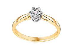 Zlatý zásnubný prsteň s diamantom Adalie IZBR107P