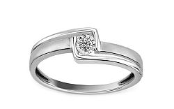Zlatý zásnubný prsteň s diamantom Bailey white KU520A