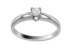 Zlatý zásnubný prsteň s diamantom Clelia ARBR36A