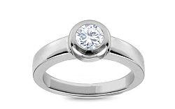 Zlatý zásnubný prsteň s diamantom Daria KU335A