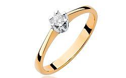Zlatý zásnubný prsteň s diamantom Devora BSBR005