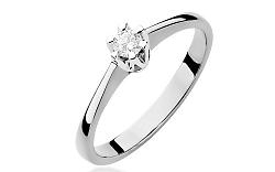 Zlatý zásnubný prsteň s diamantom Devora white BSBR005A