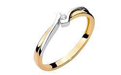 Zlatý zásnubný prsteň s diamantom Devra BSBR006
