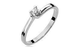 Zlatý zásnubný prsteň s diamantom Fabiana white BSBR008A