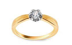Zlatý zásnubný prsteň s diamantom Felipa KU411