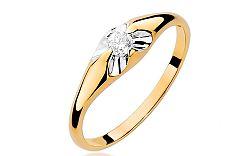 Zlatý zásnubný prsteň s diamantom Fiorenza BSBR007