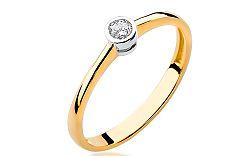 Zlatý zásnubný prsteň s diamantom Georgienne BSBR010