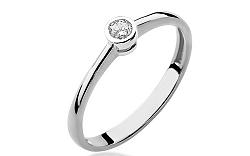 Zlatý zásnubný prsteň s diamantom Georgienne white BSBR010A