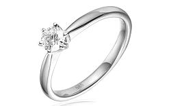 Zlatý zásnubný prsteň s diamantom Giulia white IZBR260A