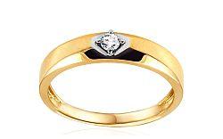 Zlatý zásnubný prsteň s diamantom Holly KU491
