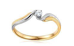 Zlatý zásnubný prsteň s diamantom Jada IZBR148