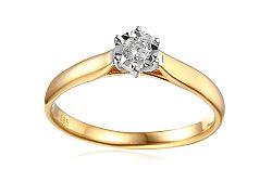 Zlatý zásnubný prsteň s diamantom Lawanda 1 IZBR303L