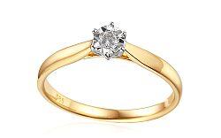 Zlatý zásnubný prsteň s diamantom Lawanda IZBR303