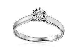 Zlatý zásnubný prsteň s diamantom Lawanda white IZBR303A