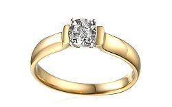 Zlatý zásnubný prsteň s diamantom Louise 2 IZBR245L